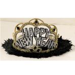 Happy New Year Marabou Tiaras - 24 PC