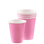 New Pink Paper Cups 266ml - 6 PKG/20