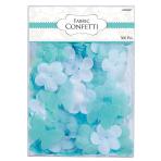 Robin's Egg Blue Flowers & Butterflies Fabric Confetti - 6 PKG/300
