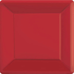 Apple Red Square Paper Plates 18cm - 6 PKG/20