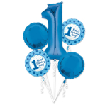 1st Birthday Boy Foil Balloon Bouquets P75 - 3 PC