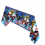 Justice League Plastic Tablecovers 1.37m x 2.43m - 6 PC