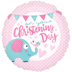 Christening Day Pink Standard Foil Balloons S40 - 5 PC