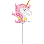Magical Unicorn Mini Shape Foil Balloons A30 - 5 PC