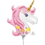 Magical Unicorn Mini Shape Foil Balloons A30 - 5 PC
