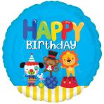Happy Birthday Circus Fun Standard HX Foil Balloons S40 - 5 PC