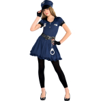 Cop Cutie Costume - Age 10-12 Years- 1 PC
