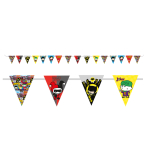 Justice League Pennant Banners 3.3m - 6 PC
