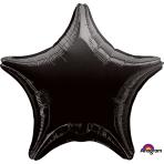 Black Star Standard Unpackaged Foil Balloons S15 - 10 PC