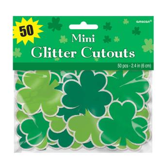 St. Patrick's Day Super Value Mini Cut-outs 6.3cm - 9 PKG/50