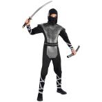 Teens Howling Wolf Ninja Costume - Age 12-14 Years - 1 PC