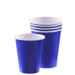 Bright Royal Blue Paper Cups 266ml - 12 PKG/8
