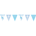 Communion Church Blue Holographic Foil Pennant Banners 4m - 6 PC