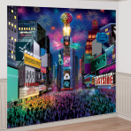 Times Square Deluxe New Year Wall Decorations - 6 PKG/9