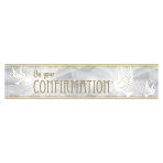 Confirmation Dove Foil Banners 2.7m - 6 PC