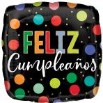Feliz Cumpleaños Bright Dots Standard Foil Balloons S40 - 5 PC