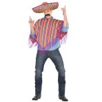 Adults Mexican Poncho Costume - Size L/XL - 1 PC