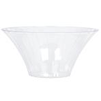 Clear Medium Plastic Flared Bowl 18cm dia - 18 PKG