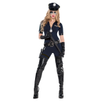 Adults Stop Traffic Police Costume- Size 8-10 - 1 PC