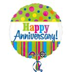 Bright Anniversary Standard Foil Balloons S40 - 5PC