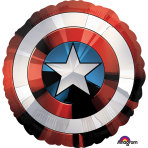 "Avengers Shield SuperShape XL Foil Balloons 28""/71cm w x 28""/71cm h P38 - 5 PC"