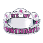 It's My Birthday Personalisable Tiaras - 6 PC