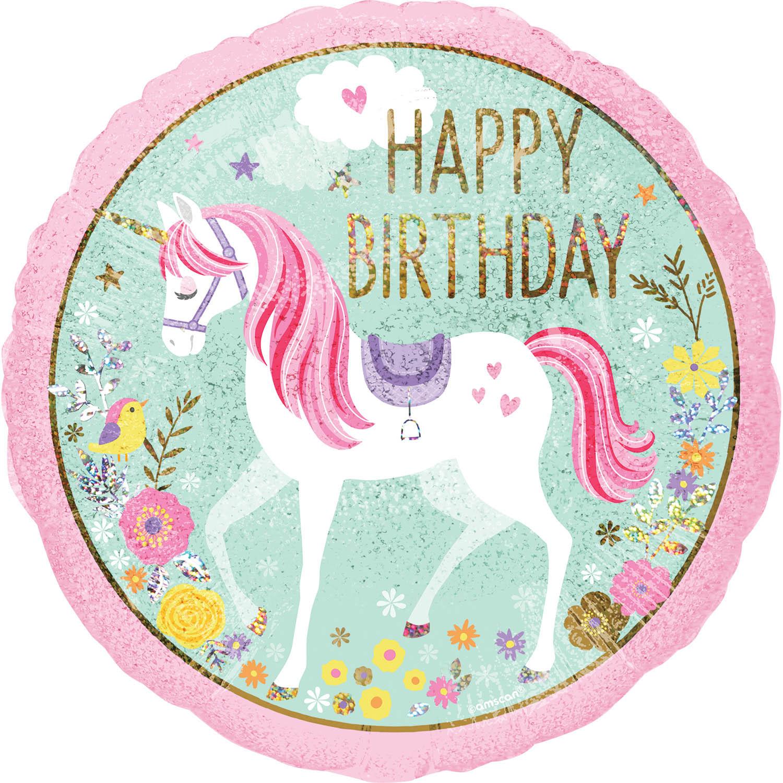 Unicorn Foil Balloon Kids Party Decorations Happy Birthday Magic Fun Gift