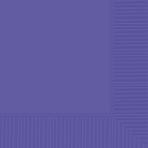 New Purple Beverage Napkins 25cm - 12 PKG/50