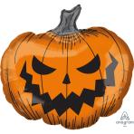 """Hallows' Eve Pumpkin SuperShape Foil Balloons 29""""/73cm x 27""""/68cm P35 - 5 PC"""