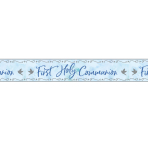 Blue First Holy Communion Foil Banners 2.7m x 20cm - 6 PC