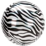 Animalz Zebra Print Orbz Foil Balloons G20 - 5 PC