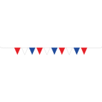 Red White & Blue GB Red White & Blue Plastic Pennant Bunting 5m - 6 PC