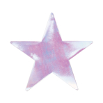 Iridescent Foil Cutout Stars 23cm - 4 PKG/5