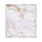 White Fabric Rose Flower Petals Confetti - 5cm - 6 PKG/300