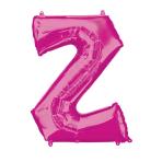 """Letter Z Pink SuperShape Foil Balloons 34""""/""""86cm P50 - 5 PC"""