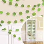 Kiwi Green Glitter String Decoration 2.13m - 6 PKG/6