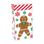 Gingerbread Man Treat Sacks 13cm x 25cm - 24 PC