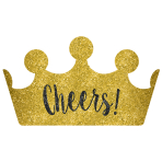 Cheers Cardboard Crowns with Glitter - 9 PC