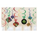 Rise of the Teenage Mutant Ninja Turtles Swirl Decorations - 6 PKG/12