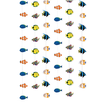Coral Reef Fish String Decorations 6 x 2m- 6 PKG/6