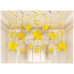 Swirl Party Pack Shooting Stars Gold - 6 PKG/30