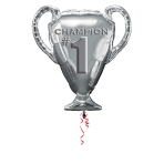 "Trophy Champion SuperShape Foil Balloons 25""/63cm w x 28""/71cm h P30 - 5 PC"
