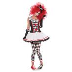 Adults Harlequin Honey Clown Costume - Size 10-12 - 1 PC