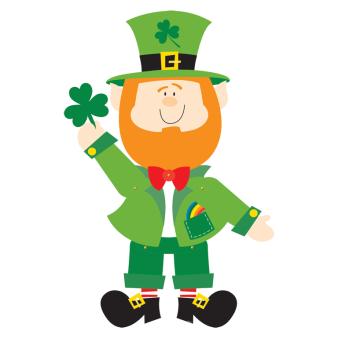 St. Patrick's Leprechaun Jointed Cut-outs 89cm - 6 PC