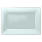 Clear Plastic Serving Platters - 6 PKG/3