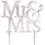 Mr & Mrs Cake Toppers - 4 PC