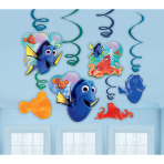 Finding Dory Hanging Swirl Decorations - 6 PKG/12