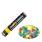 Multi Coloured Paper Confetti Cannons 24cm - 12 PC