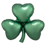 "Emerald Shamrock Satin Luxe SuperShape XL Foil Balloons 29""/73cm x 28""/71cm P30 - 5 PC"