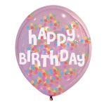 "Confetti Happy Birthday Latex Balloons 11""/27.5cm - 6 PKG/6"